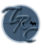 Tucson Rifle Club Script Logo, TRC in Brush 445BT, Blue scope